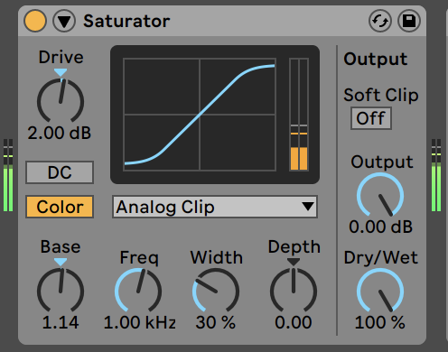 saturator ableton